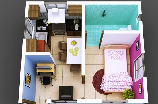 plan mieszkania 3d